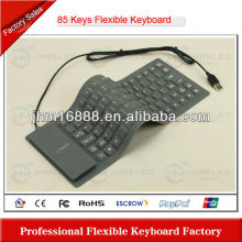 85 keys silicone flexible wired keyboard case for ipad