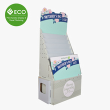 Cardboard Greeting Cards/Business Cards Floor Display Stand