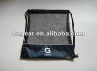 Promotional nylon and mesh draw string bag