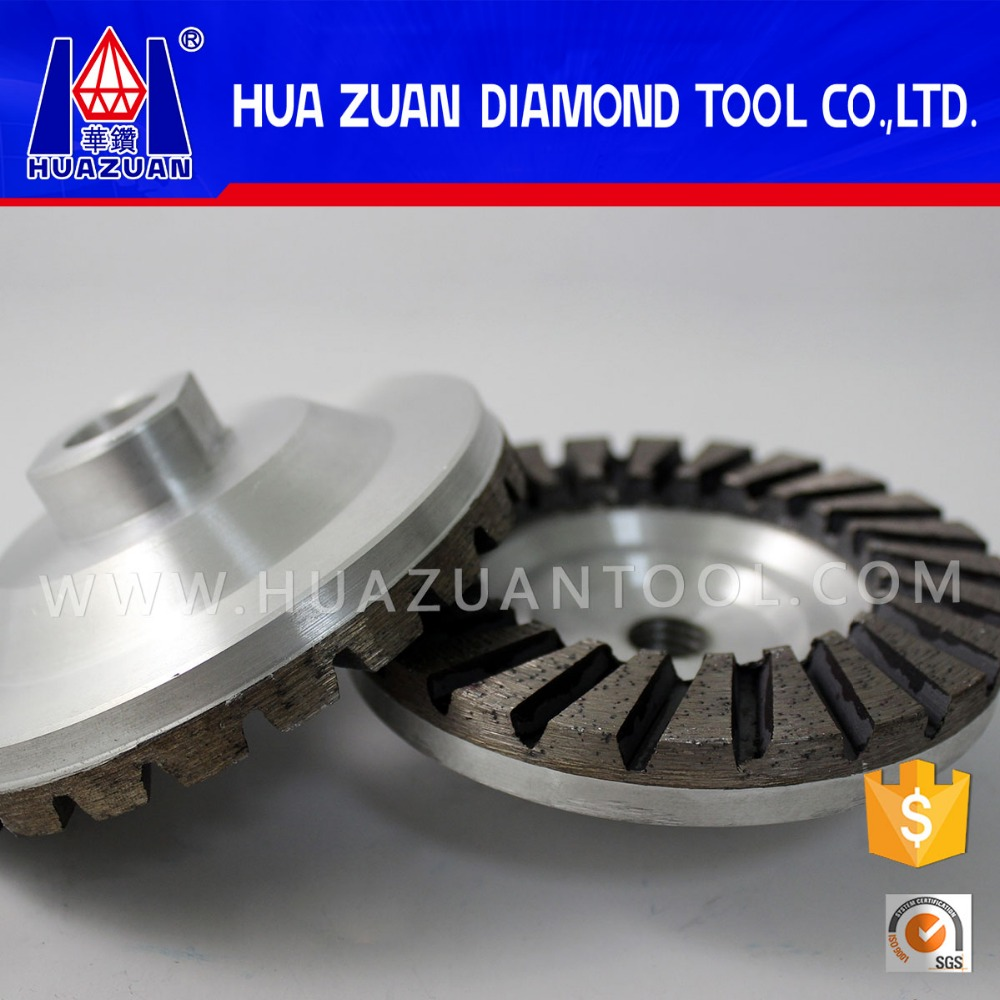 Huazuan grinding wet diamond cup wheel for stones and concrete