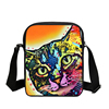 Hot sell cute colorful cat kid travel wide bag nylon lady single shoulder strap bag for students