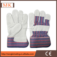 Rubberized cuff Chrome Leather Driving Gloves