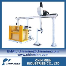 Robot linear axis gantry type machine with 3 axis robotic arms for automatic parts feeding