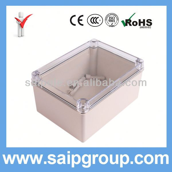 IP66 China ABS Plastic Utility Boxes With Clear Cover 150x200x100mm