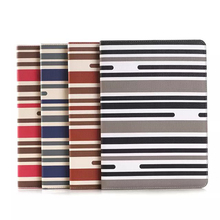 PU Leather Stripe Card Stand Tablet Case For ipad air 2 Case