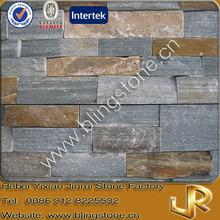 Natural stone grey slate tile with brown