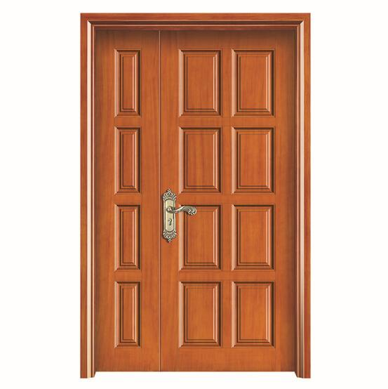 square bolection wood door with fancy curving