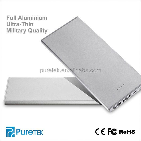 Newest Ultra-thin Universal Battery Power 8000mAh Power Bank Charger For Iphone5 5S/Samsung/HTC/Digital Camera