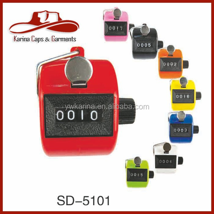 Colorful Handheld Tally Counter 4 Digit Display Mechanical Palm Clicker Counter