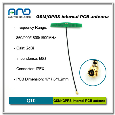 mobile phone MINI PCB internal antenna with RG1.13 / L=100mm cable with IPX plug IPEX pcb Antenna
