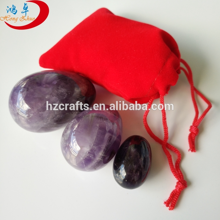 Natural gemstone nephrite yoni egg Kegel Crystal Yoni Eggs Wholesale yoni eggs sets