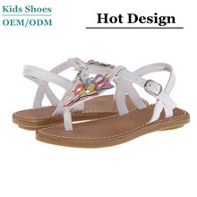 China Manufacturer 2014 New Design flat flower strap children topless sandals