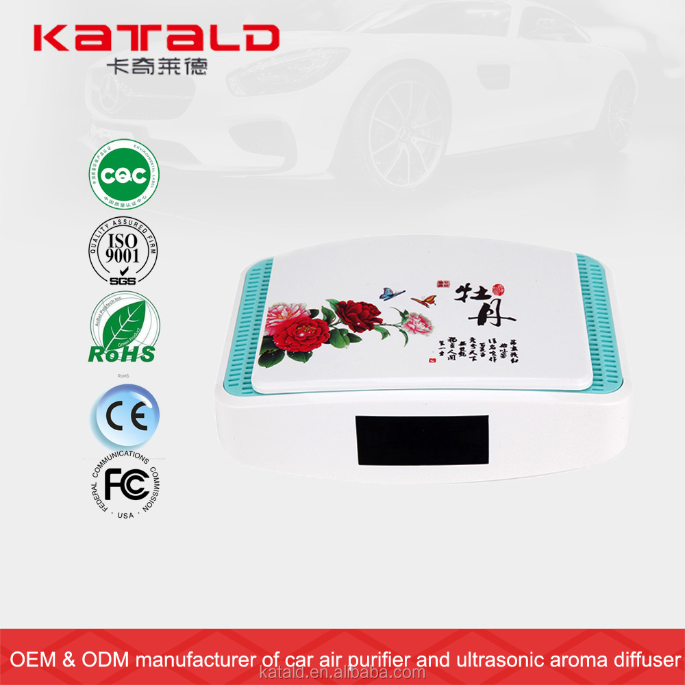 High quality most efficient fan smart blue light usb battery powered best car air purifier for natural clean fresh air