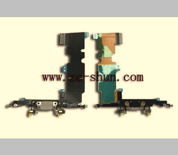 mobile phone flex cable for iPhone 8 Plus plun in White