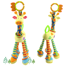 In 2017 the most interesting plush toys product,The giraffe drum-shaped rattle