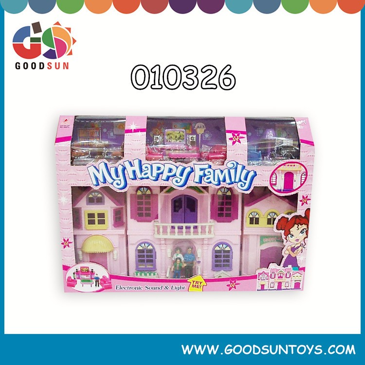 High quality Villa House Play Toys Children Villa Toy Plastic Modern Villa Toy