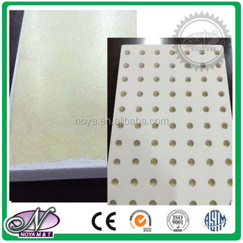 Insulated Perforated Honeycomb Fiberglass Ceiling Board For Sound Absorption