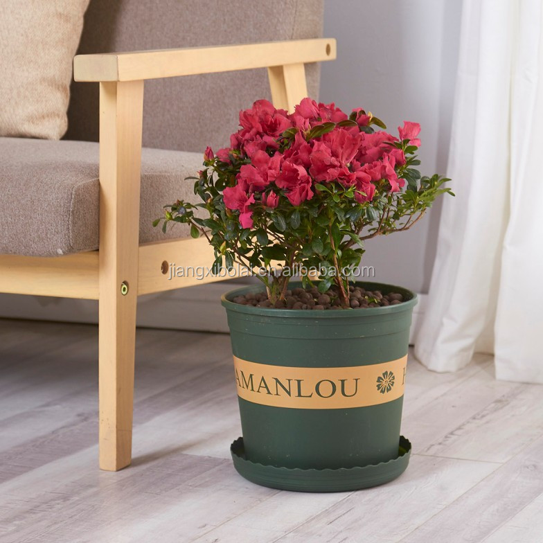 dark green 3 gallon nursery plastic flower pot