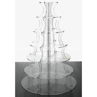 Round 7 tier acrylic cupcake stands 7 step acrylic cake display riser holder