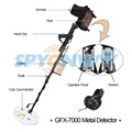 metal detecto Gold detector GFX7000 drs ground exper ground scanner, detector de oro