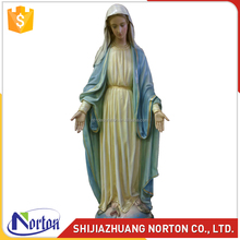 Christian virgin mary 4 feet fiberglass religious statues NTRS-WS037A
