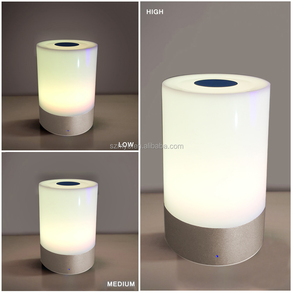 LED 6w smart Portable rechargeable buletooth light led touch room lamp night light