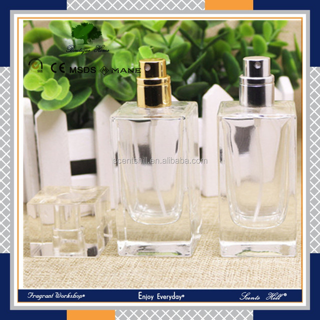 Luxury packaging white clear color empty cosmetic sets fragrance scent dispenser spray glass bottle