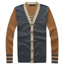 C27490A Korean Style Men V neck Cardigans