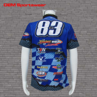 Short sleeve breathable motorcycle racing uniform shirts