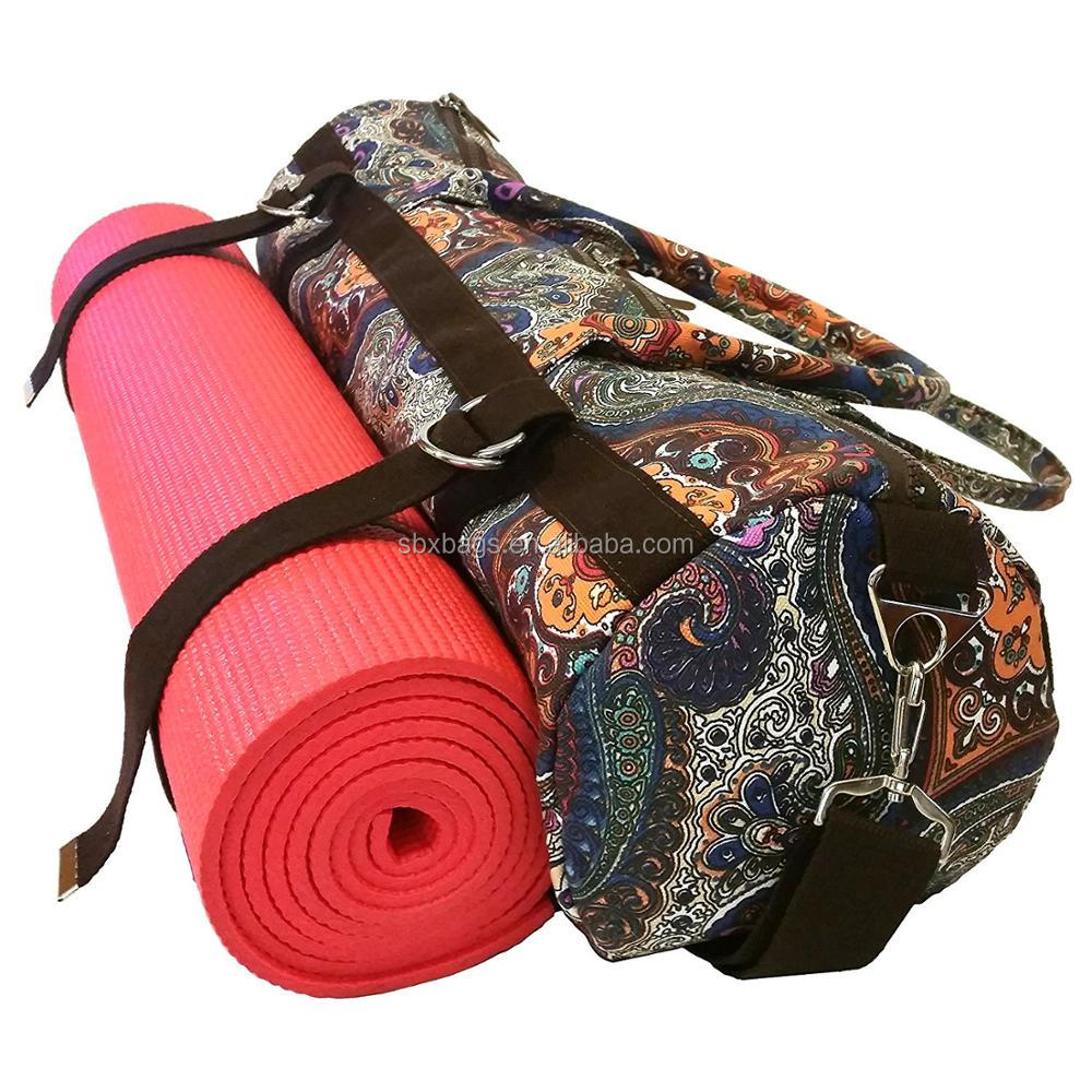 Retro Style Gym Bag, Carry On Yoga Mat Bag