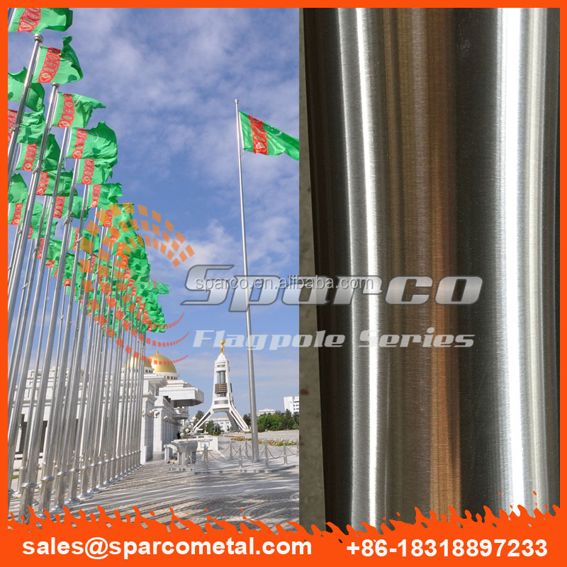taper stainless steel remote controlled flagpole