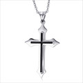 New arrival stainless steel cross pendants necklace with low MOQ