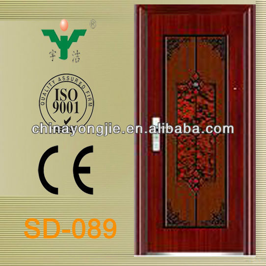 cheap high quality entry embossed metallic security door