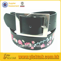 Classic Ladies Leather Embroidery Belt