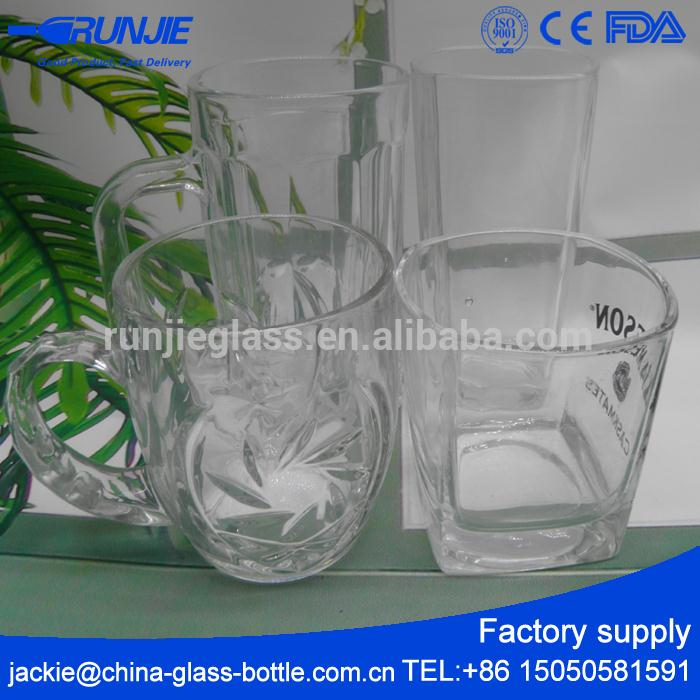 10 years Factory Food Safe square drinking glass