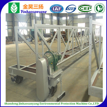 Sewage treatment truss type sludge suction scraper for sedimentation basin