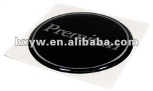Epoxy domed sticker with stronger adhesive