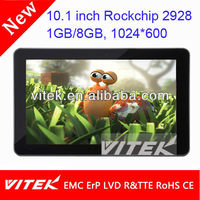 Top quality 10.1'' wifi tablet rockchip 2928