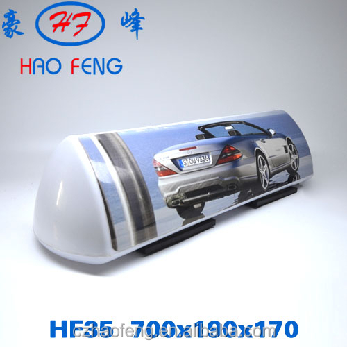 New Design Slim Taxi LED Top Light BoxAdvertising taxi top led displayHF35