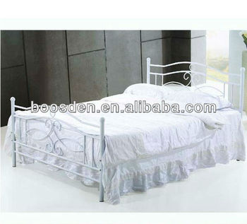 handsome double metal bed frame, cheap kid bed, latest double bed designs BSD-454046