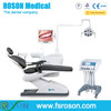 2016 new model ROSON dental chair with cart for implant; implant dental unit,with curing light and scaler