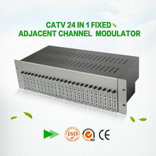 48~860MHz 24 channel Fixed Analog TV audio video rf modulator