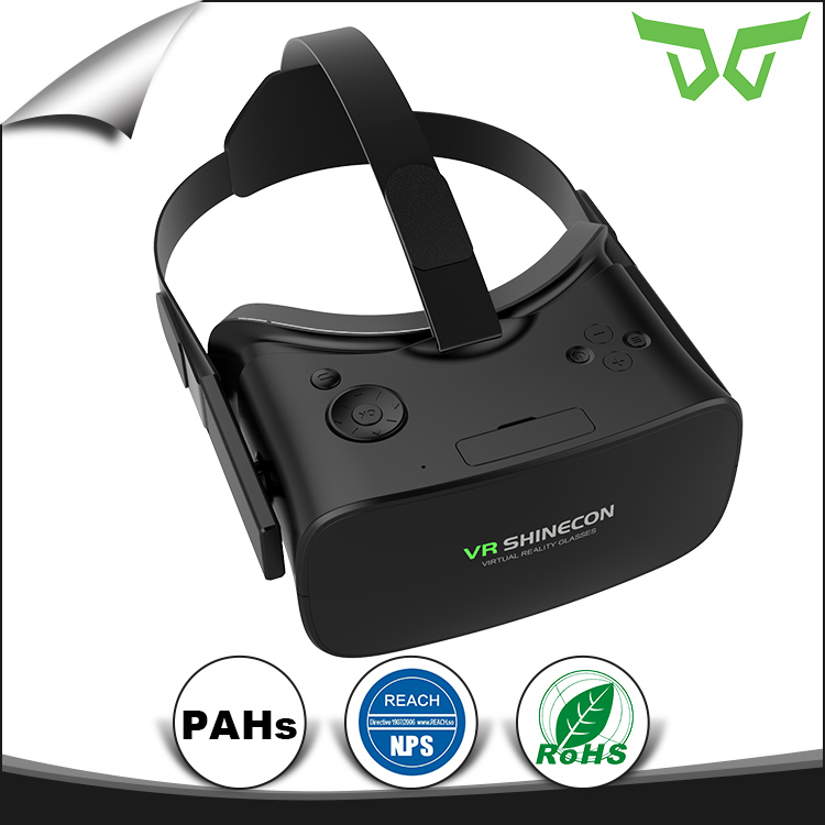 New arrival Quad-Core 3D Glasses Virtual Reality VR BOX all in one vr headset