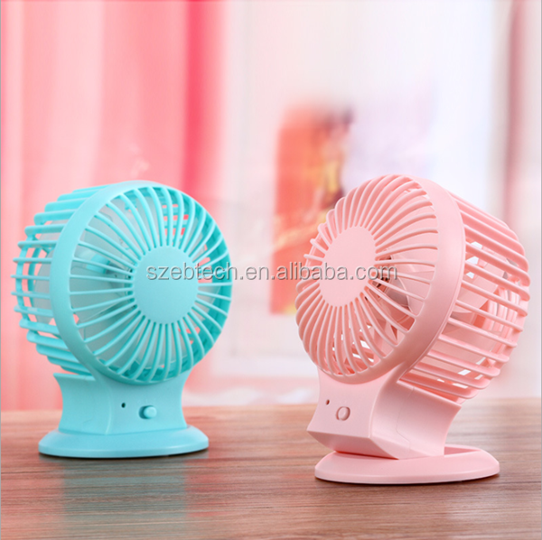 2016 new fashion shenzhen factory produce Battery Power Source and Water Mist Fan,Portable Type Mini fan