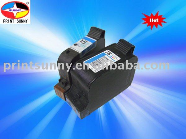 remanufactured ink cartridge for HP 15,78