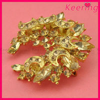 bulk 2014 new arrival fashion jewelry rose gold rhinestone brooch for wedding invitations WBR-1428