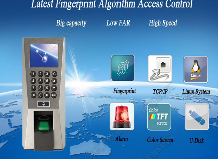Top Security Biometric ZK Access Control F18