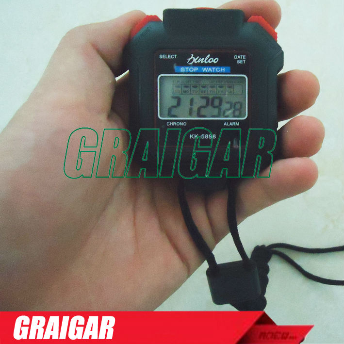 Handheld Digital LCD Sports Stopwatch KK-5898 Professional Chronograph Counter Timer High quality