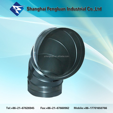 Galvanized Steel Pressed Bend Elbow Duct Fitting 90 Degree
