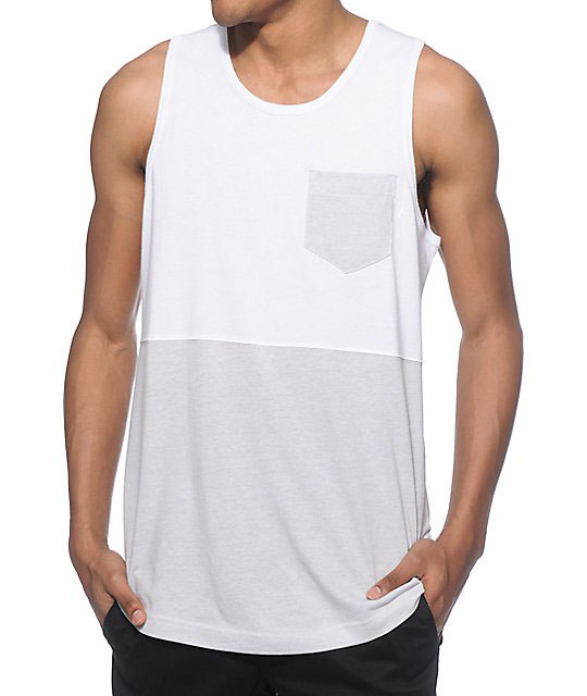 street style clothing men multi pocket tops tank top mens white singlets